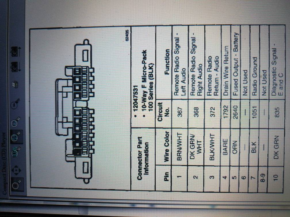 cd changer wiring in a fleetwood 1996. 2000 deville cd changer wiring diagram #13