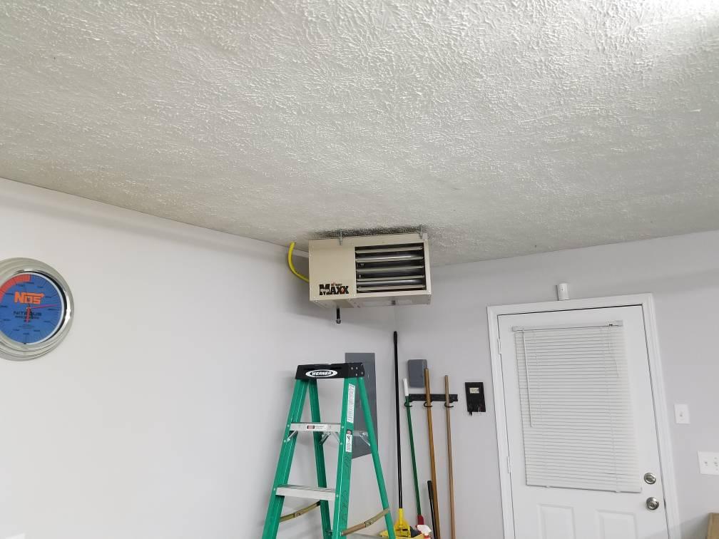 Diy one person garage heater ceiling installation youtube.