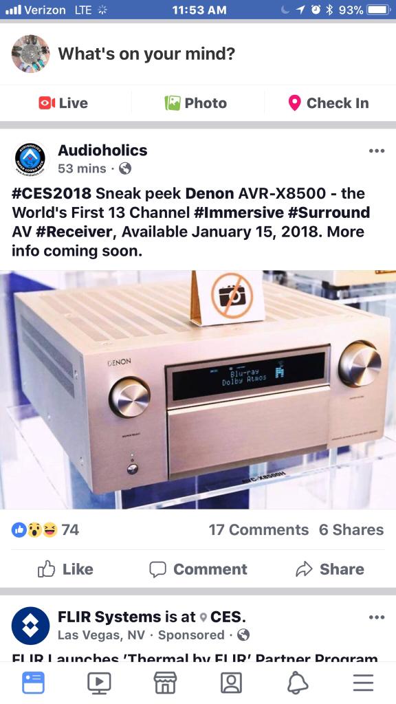 The Official Denon 2018 Flagship AVR X8500H wishlist
