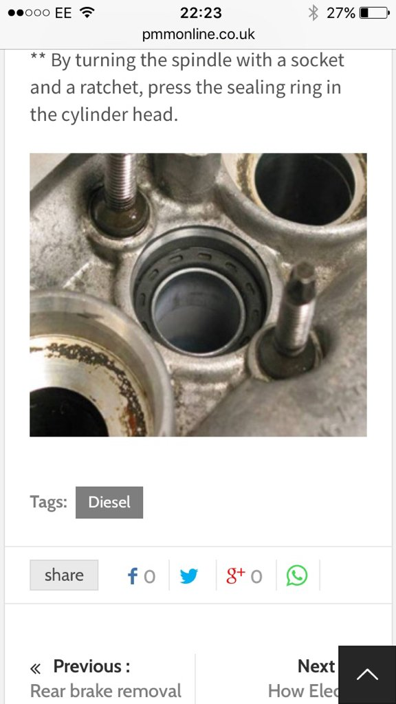 1.6hdi injector seals - Peugeot Forums