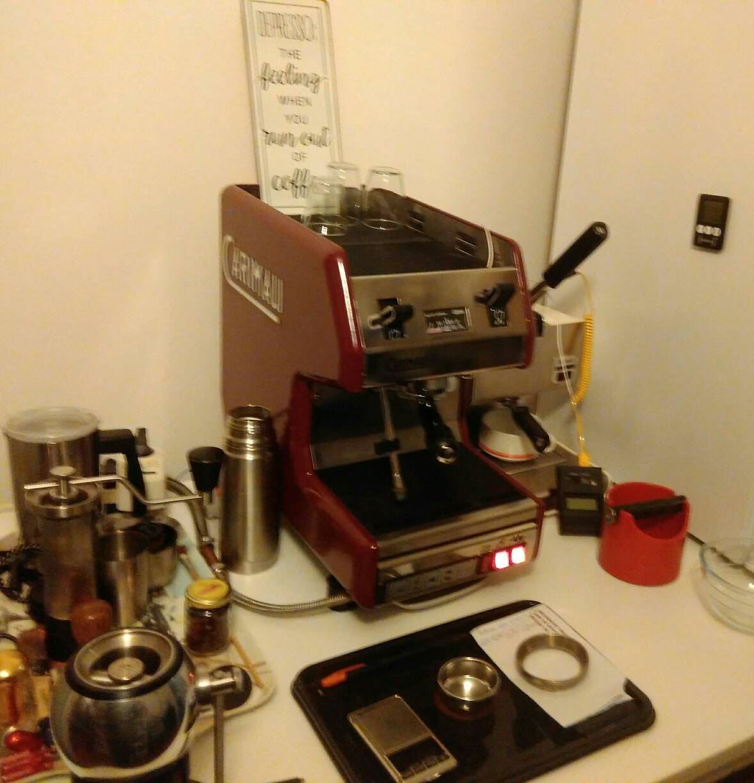 Another Coffee Corner Kinu Hand Grinder M47 You Can See A Gaggia Mini Hiding Behind The Carima Uno Carimali
