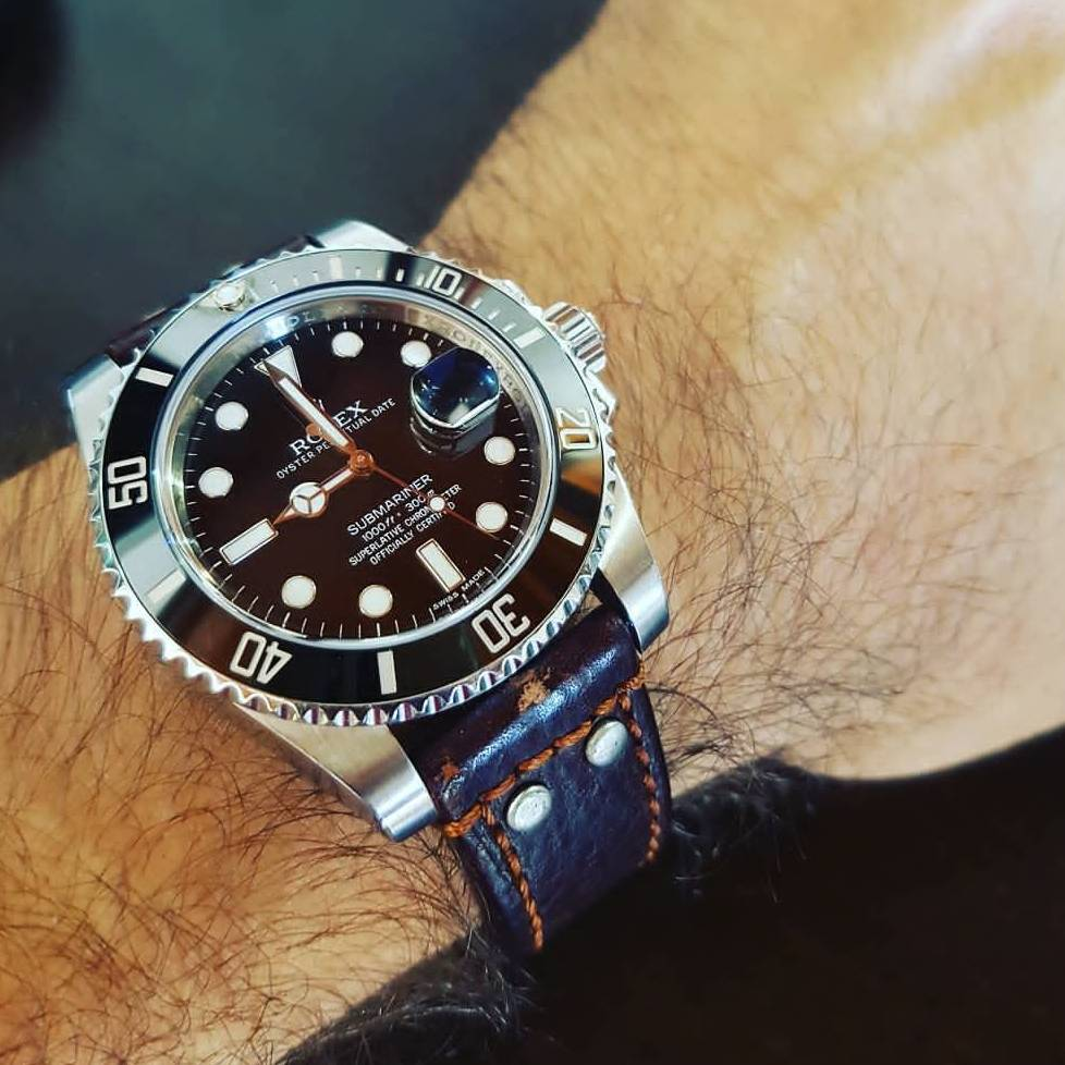What is your favorite leather strap brand on a Submariner