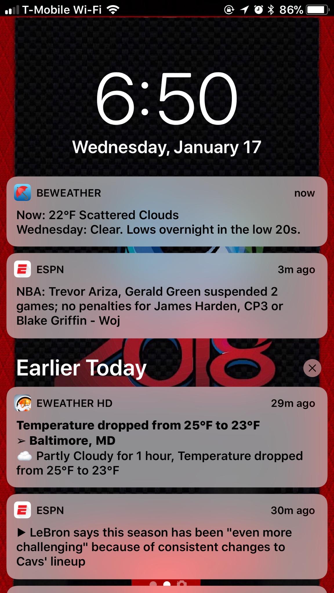 weather widget iphone not working