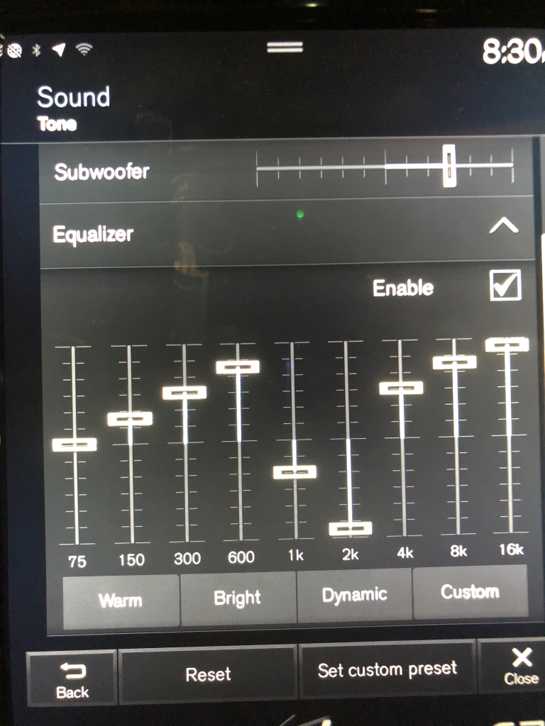 Bowers and Wilkins Optimal EQ settings?