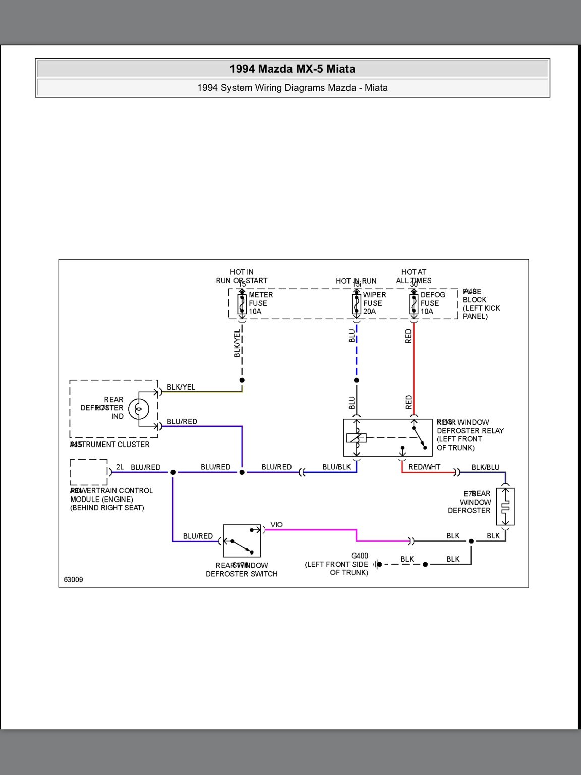 Mazda Eunos Wiring Diagram - Wiring Diagram Write on