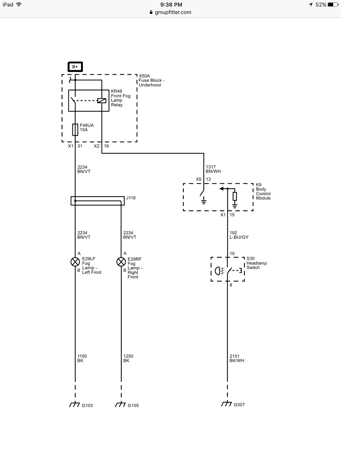 zr2 factory fog lamp relay and fuse chevy colorado \u0026 gmc canyon Fuse Box Diagram 2005 Colorado just wondering if the fog lamp circuit is included, i don\u0027t see the relay kr46, but the fuse f48 is installed in my fuse box