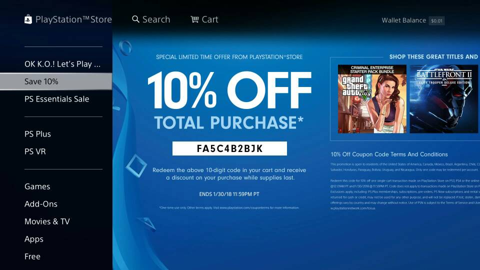 10 Discount Code For Psn Ends Today Operation Sports Forums