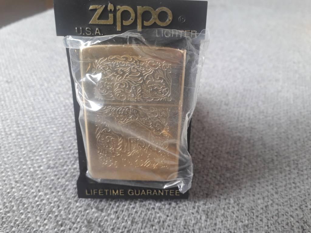 Zippo camel gold plated