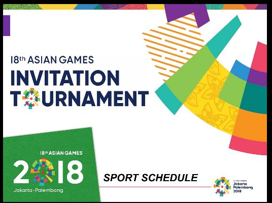 Jakarta palembang 2018 asian games xviii asiad page 60 schedule for test event medal design invitation tournament stopboris Choice Image