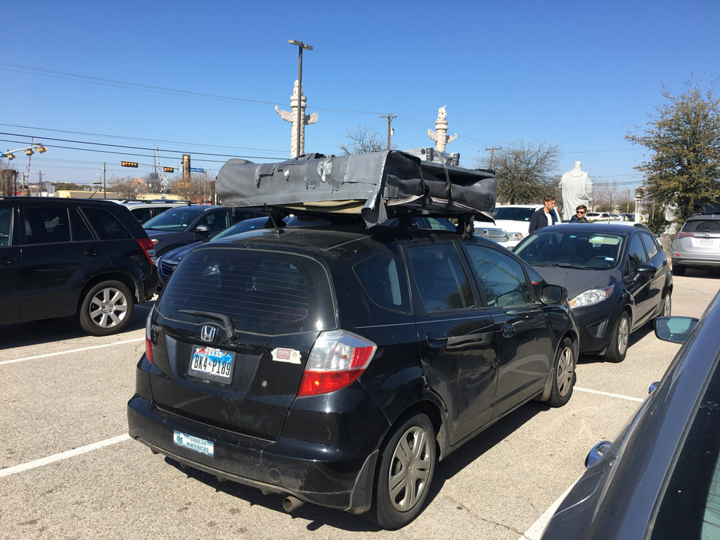 What is the smallest car you have seen a roof top tent on? - Toyota