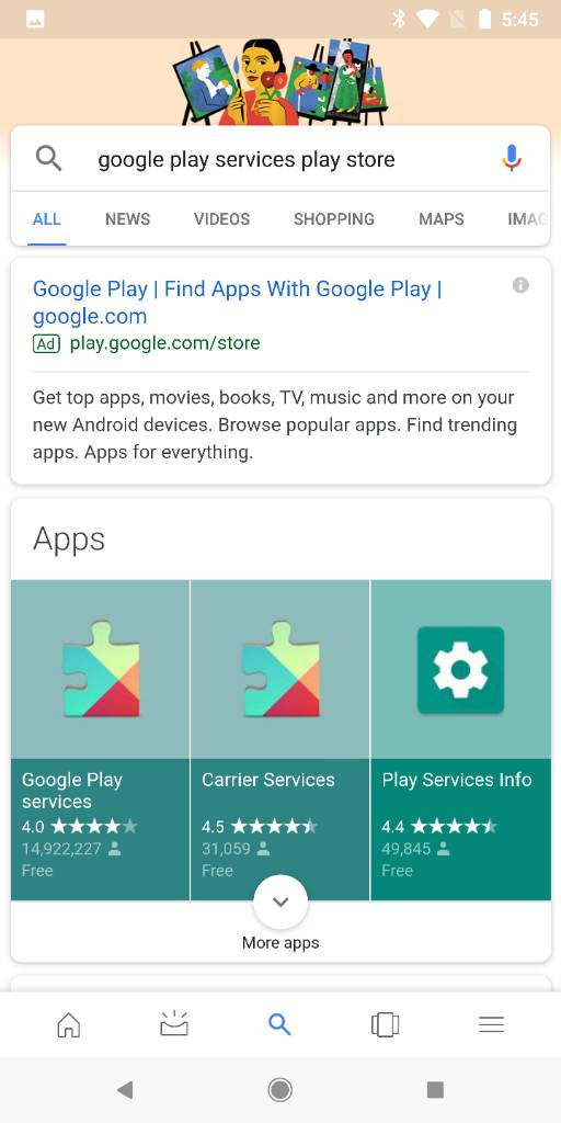 google play services play store link