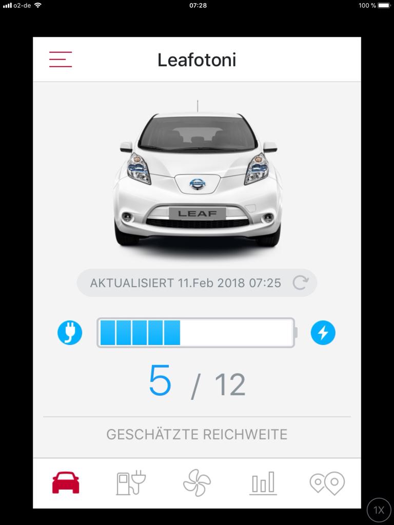 In IOS App plötzlich keine Reichweite mehr!? - Leaf ZE0 ...