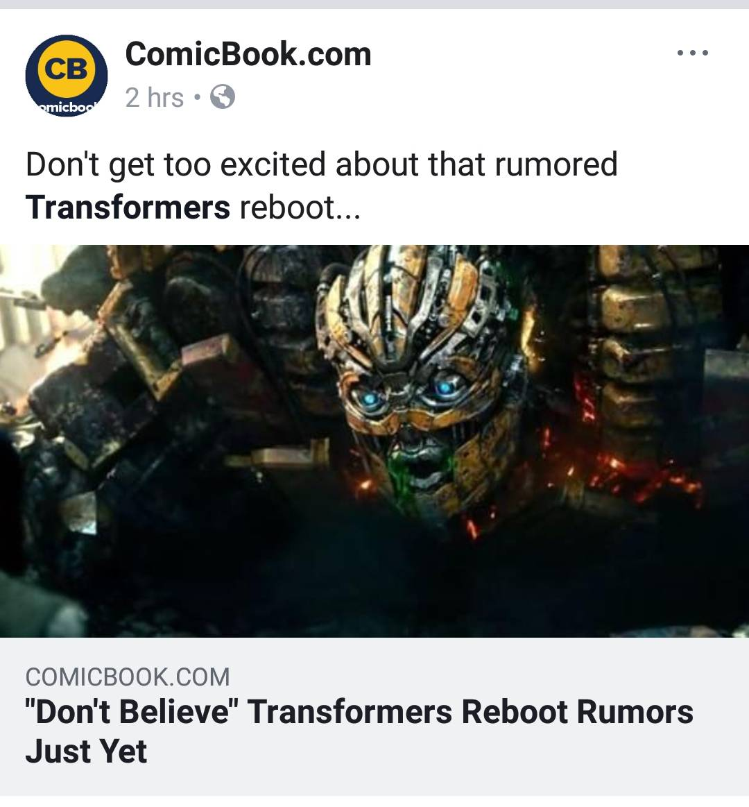 Transformers Series to be Rebooted  Transformers 6 literally