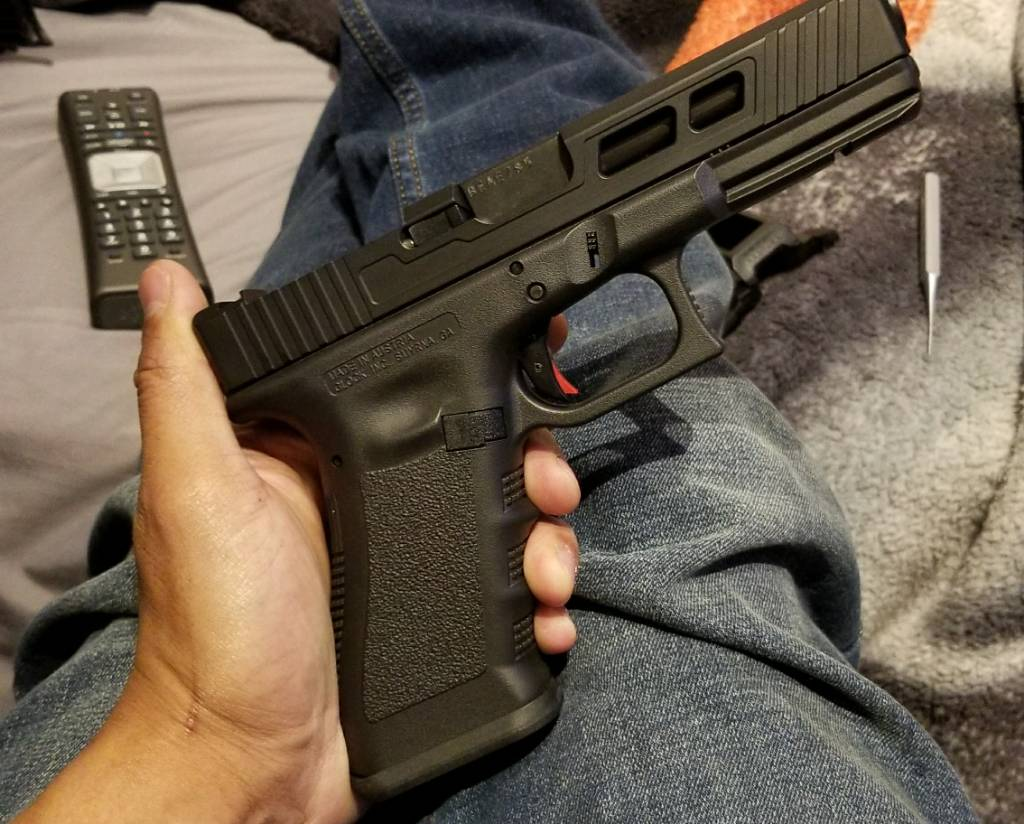 Wts custom g17 gen 3 slide with rmr cut (stripped)