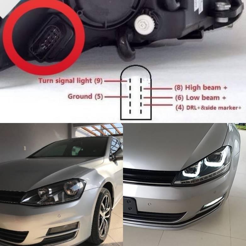 VWVortex com - Upgrading from halogen to bi-xenon headlights