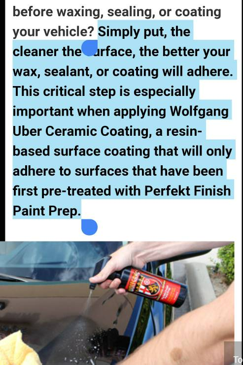 Alternatives to Wolfgang Uber Perfekt Paint Prep - Page 2
