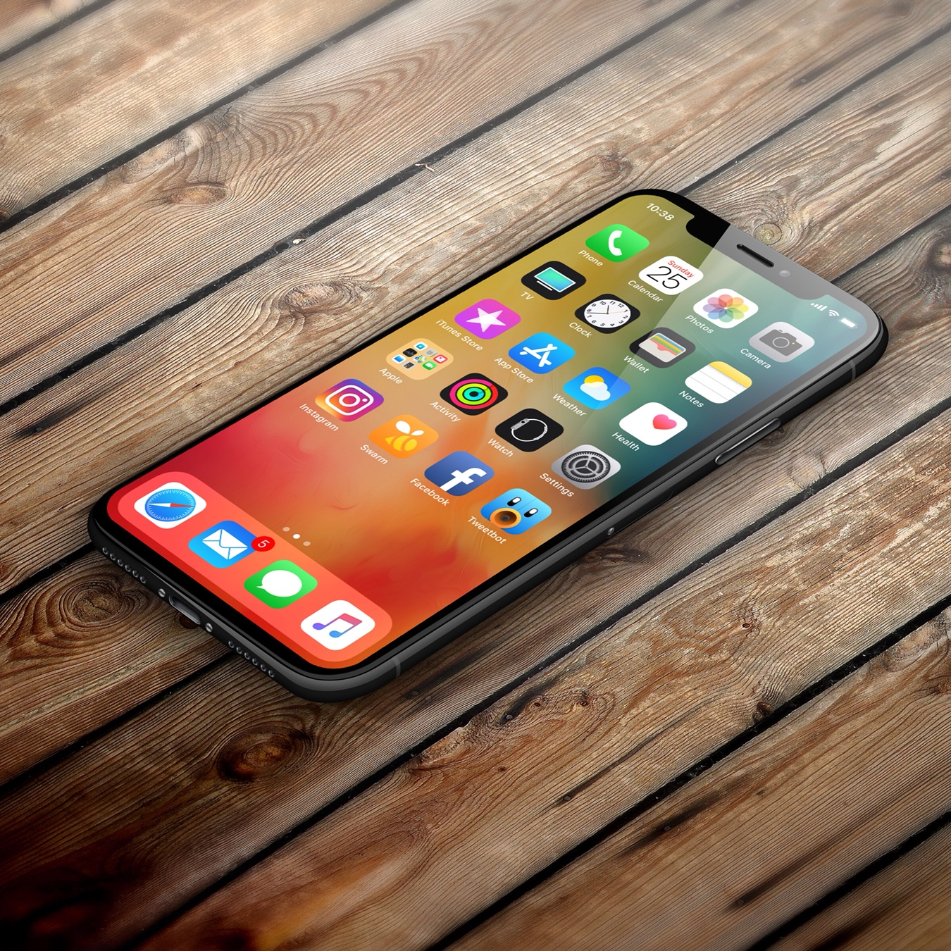 new iphone screen show us your new iphone x home screen 7552