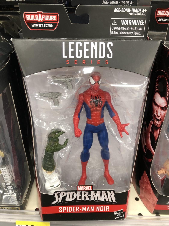 "Spider-Man Noir Marvel Legends Lizard series 2018 6/"" loose action figure"