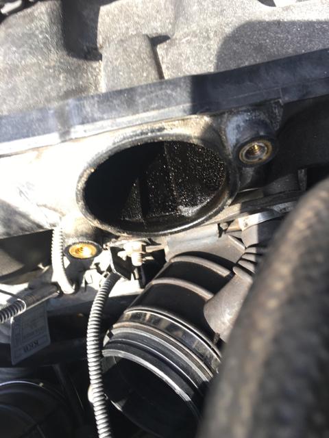 Oil on disa valve and inside intake - E46Fanatics