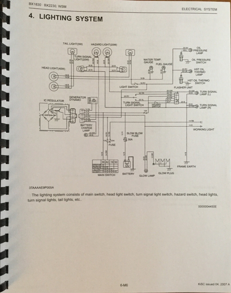 Kubota 2230 Wiring Diagram
