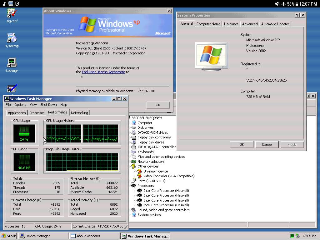 Windows XP running on a Tab S3! - Android Forums at