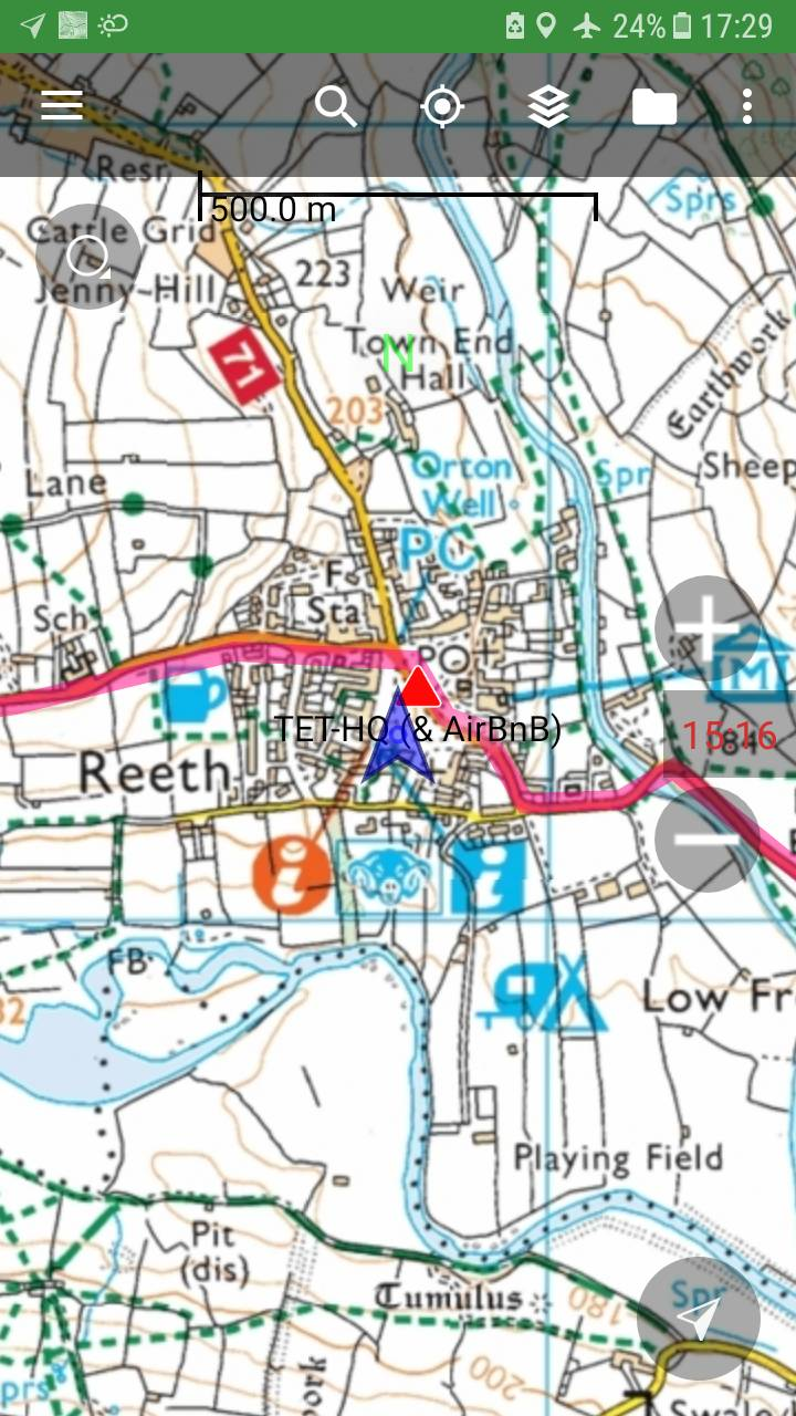 UK - app with free offline ordnance survey mapping - transeurotrail org