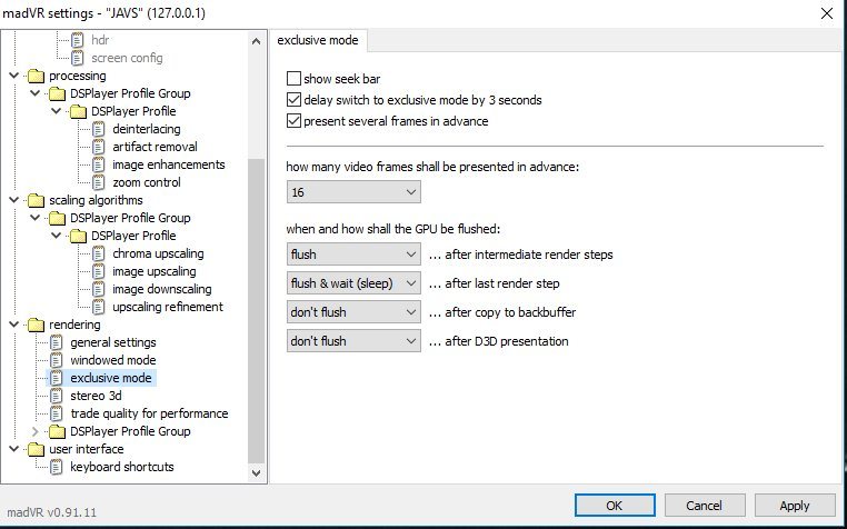 Kodi DSPlayer – DirectShow Player for Windows