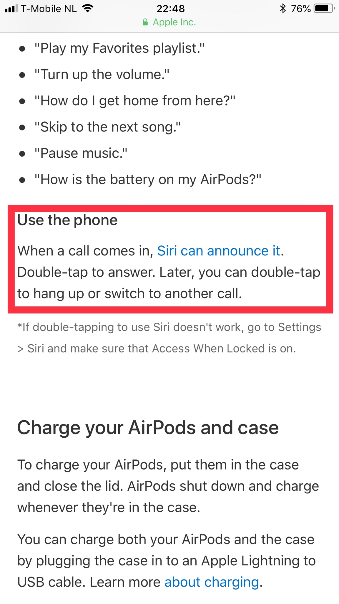 how can I hang up on a call when speaking on AirPods ...