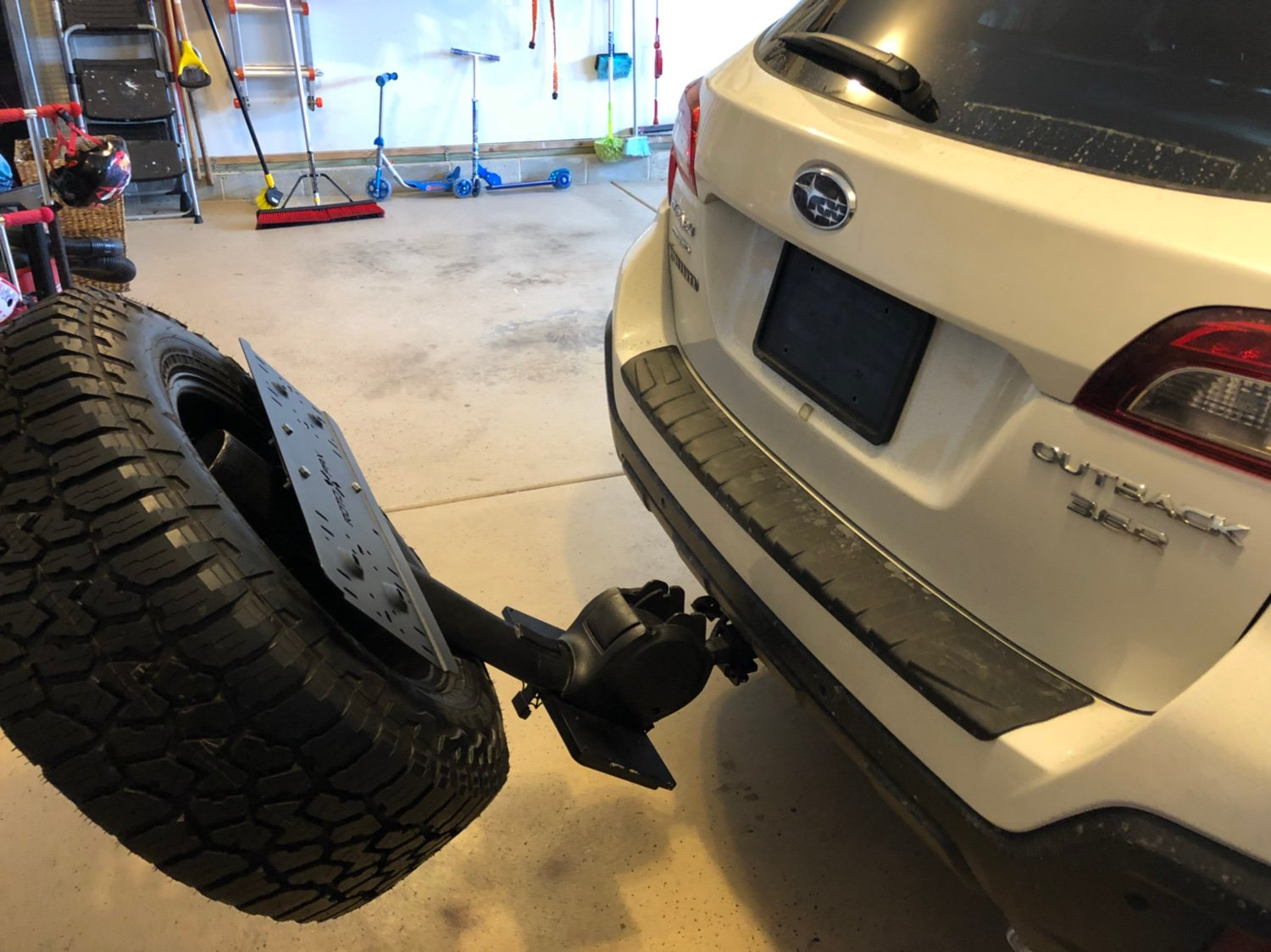 tire hitch spare carrier mount hitches subaru outback