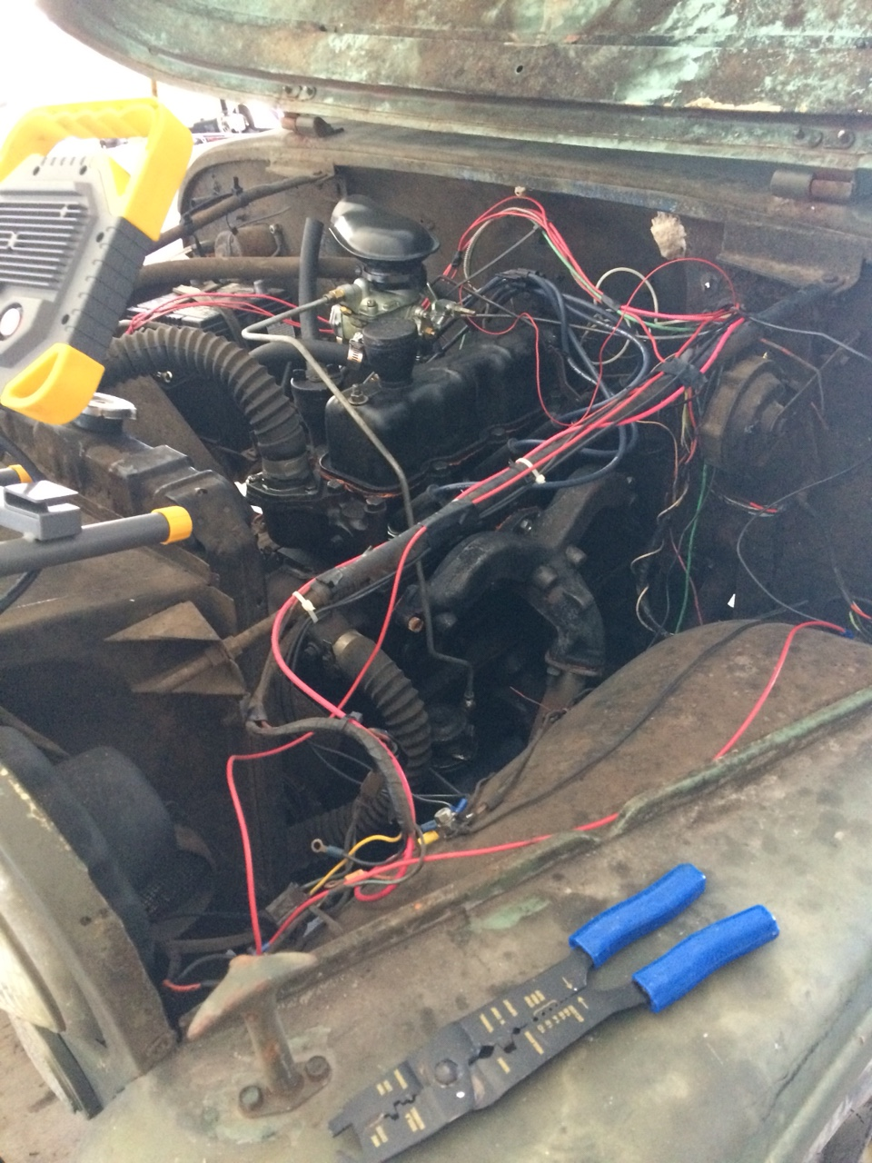 Bb 57 Engine Room: *I'm Rewiring An Old Jeep For A Neighbor