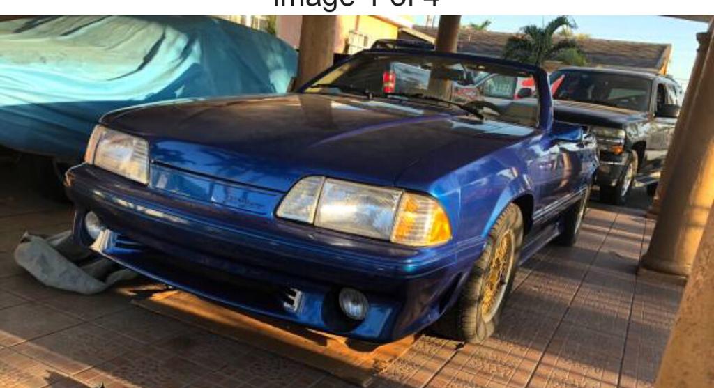 Craigslist Mustang ASC Mcleran 1987 - $5000 (Hialeah, FL)