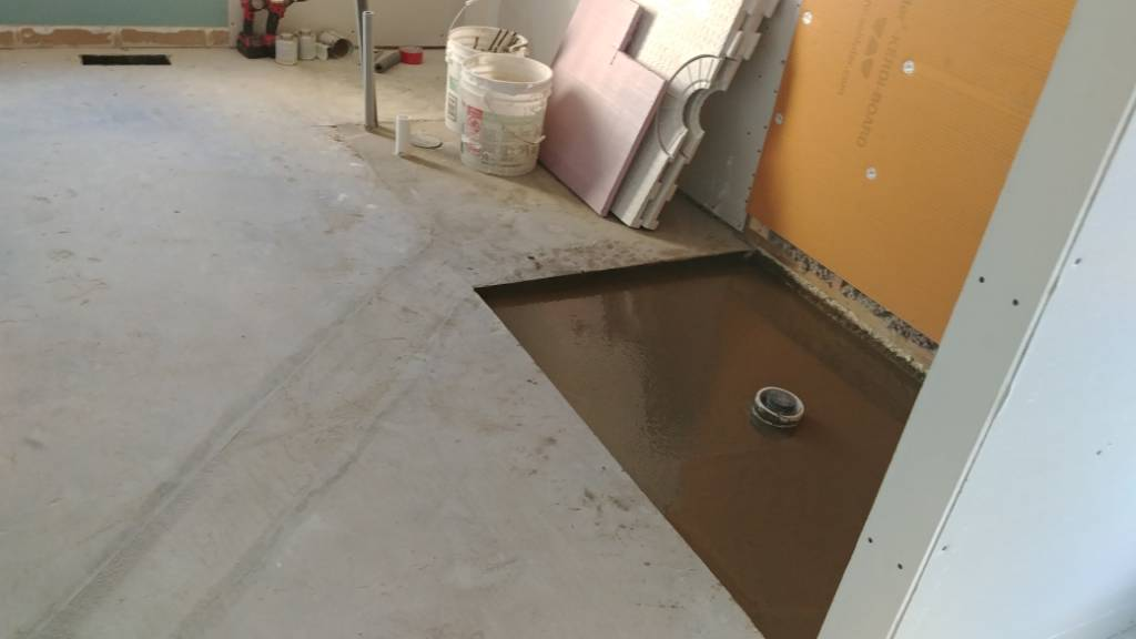 Curbless Shower On Concrete Slab Plumbing Contractor Talk