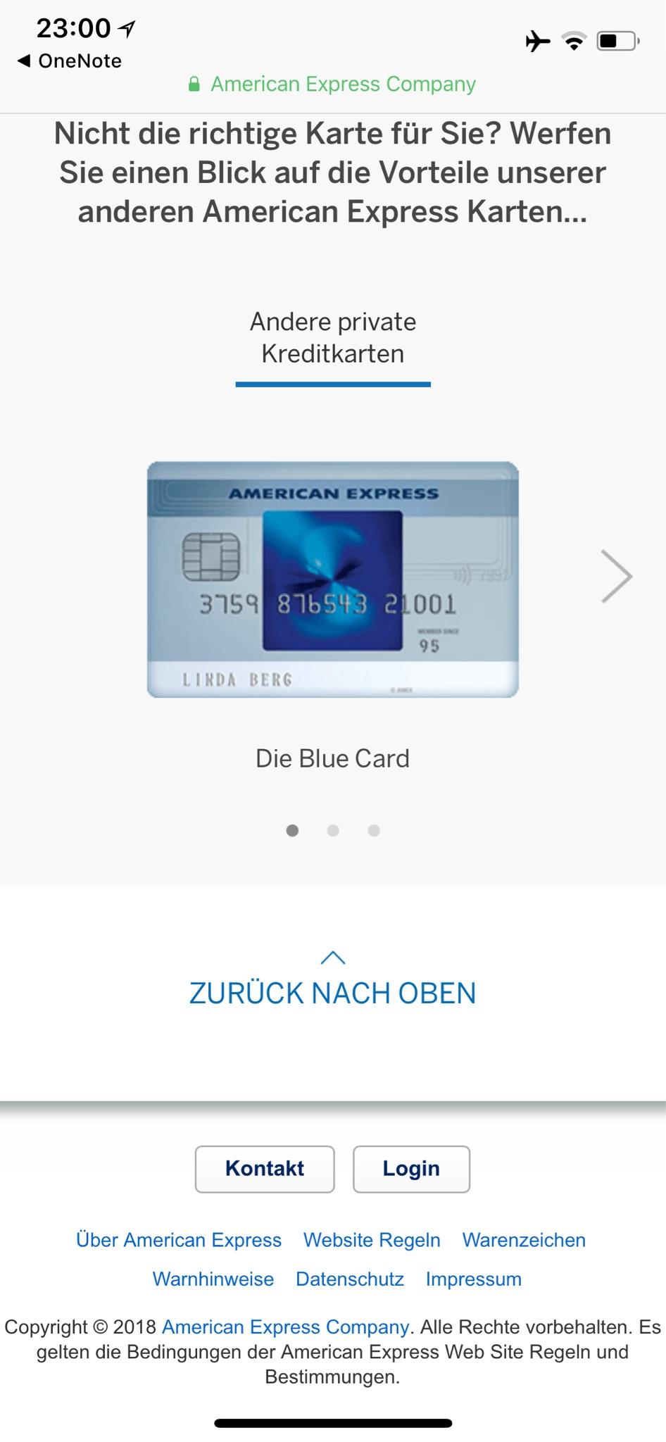 Unterschrift American Express Karte.Amex Platinum Seite 155