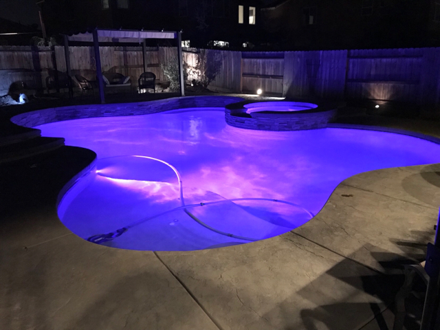 Pool Lights With Dark Pool Finish Question