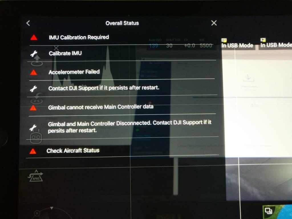 Mavic Air Controller Data Error and IMU calibration issue | DJI