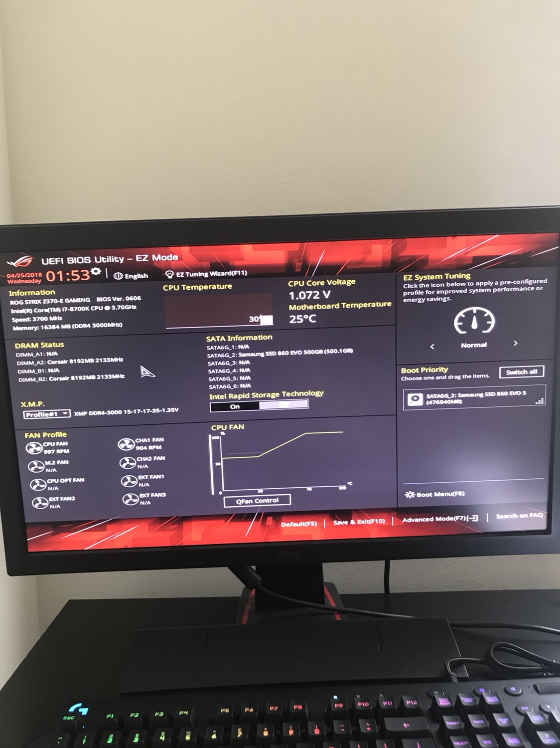 Bios showing 2133hz
