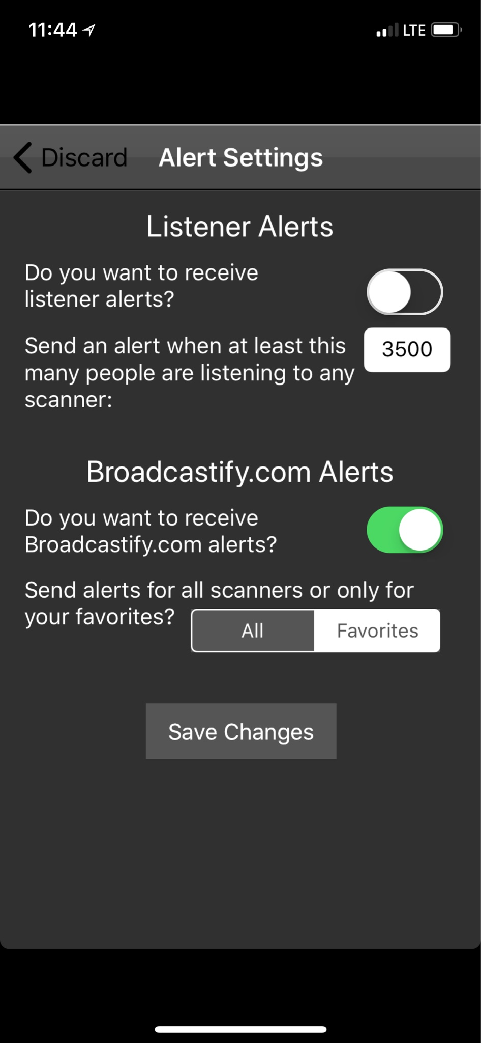 Broadcastify iphone app and getting alerts | RadioReference