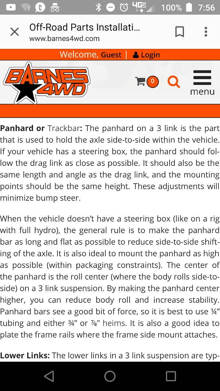 Best design on Panhard bar? - RCCrawler