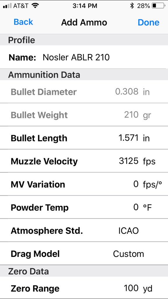 Sig Kilo 2400 variance from AB app | Rokslide Forum