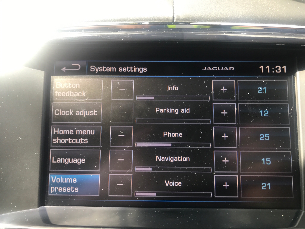 Parking sensor beep volume [Archive] - Jaginfo - Jaguar Forum
