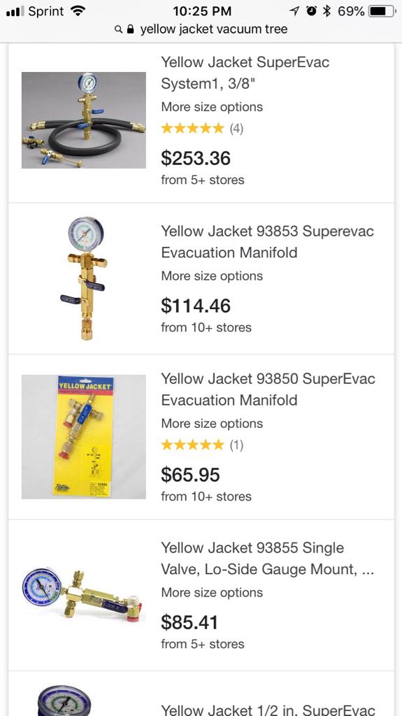 Yellow Jacket 93850 Evacuation Manifold,