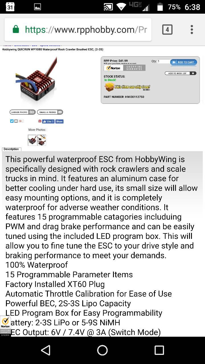 AE-5L ESC upgrade or no? - Page 2 - RCCrawler