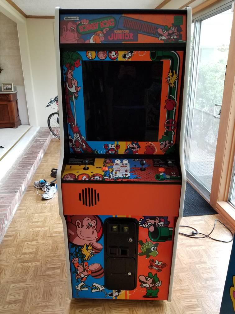 Sold Game Sacramento Dk Dk Jr Mario Bros Trio Cabinet With