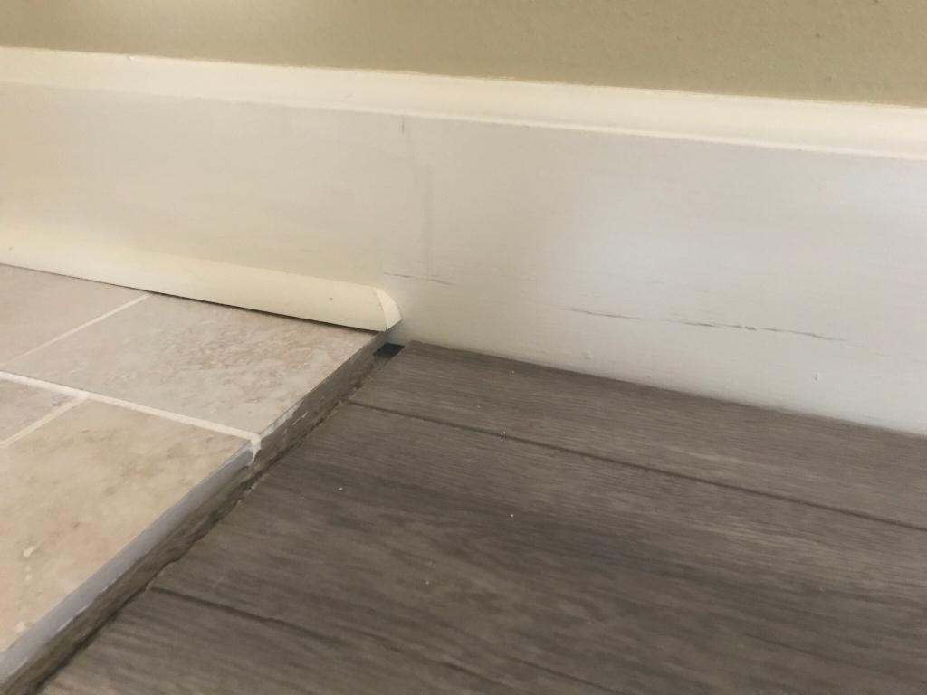 Shoe Moulding Transition Uneven Floor Flooring Diy