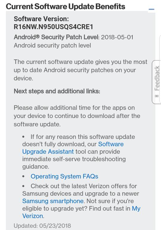 Verizon system update - Android Forums at AndroidCentral com