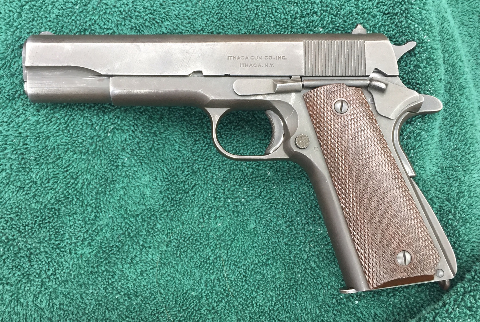 1943 Ithaca with Sweetheart Grips - FIREARMS & ORDNANCE - U S
