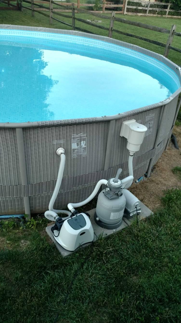 Intex Swcg Install On Non Intex Plumbing Trouble Free Pool