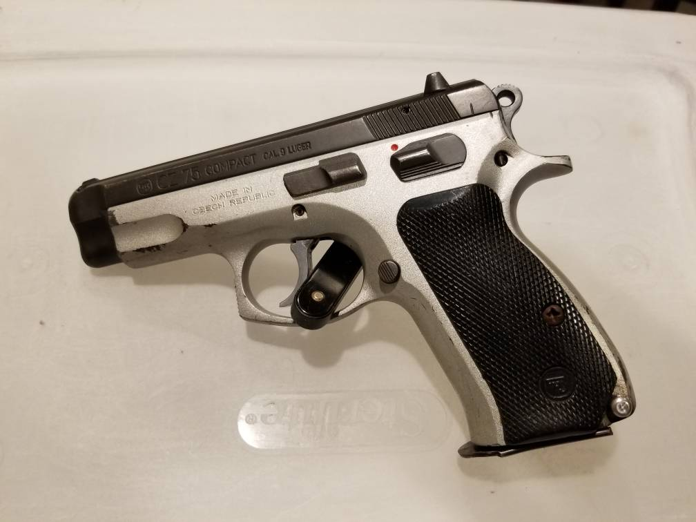 Compact 75 Safety refinished in Hard Chrome and modified