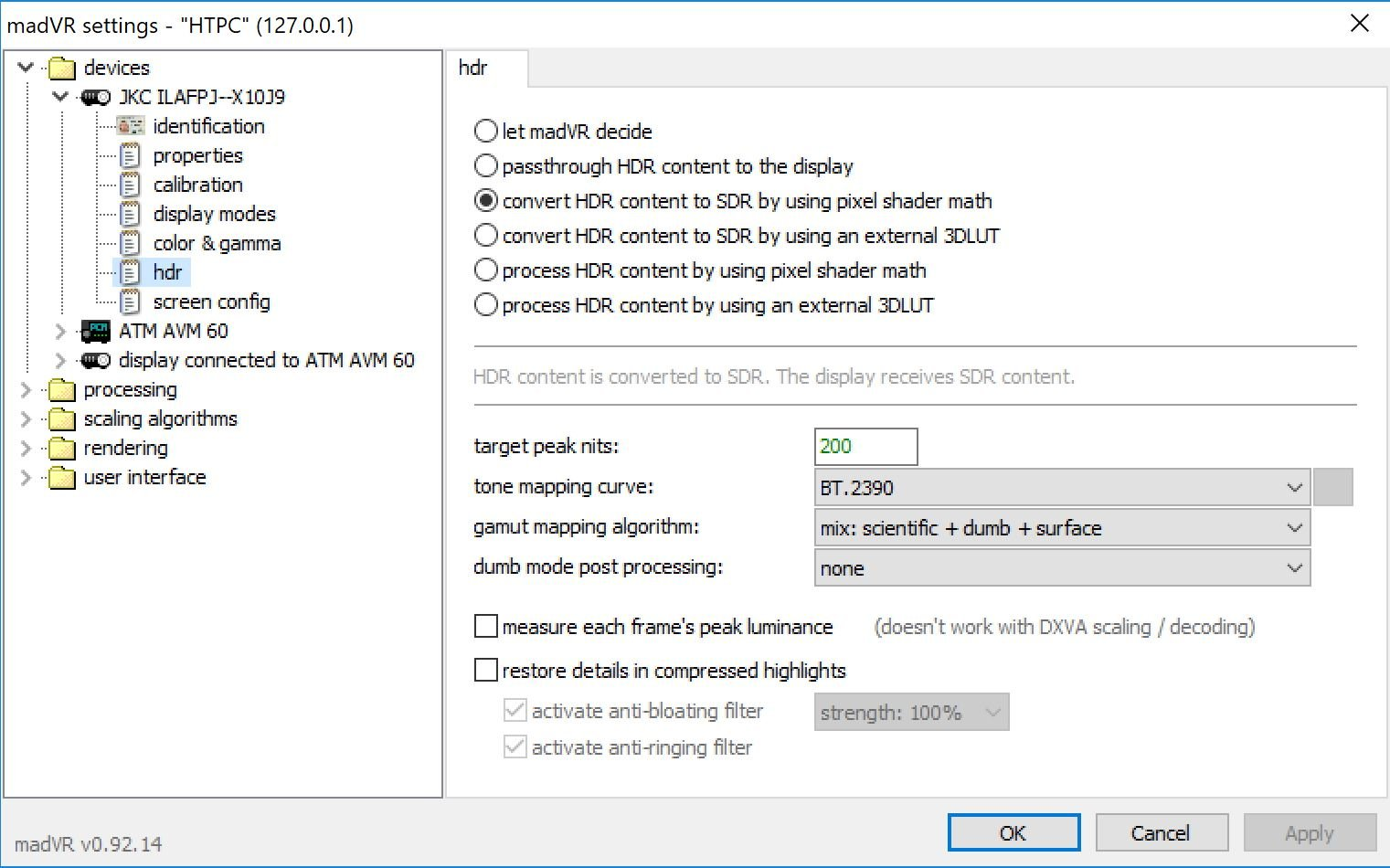 Improving Madvr HDR to SDR mapping for projector - Page 27 - AVS
