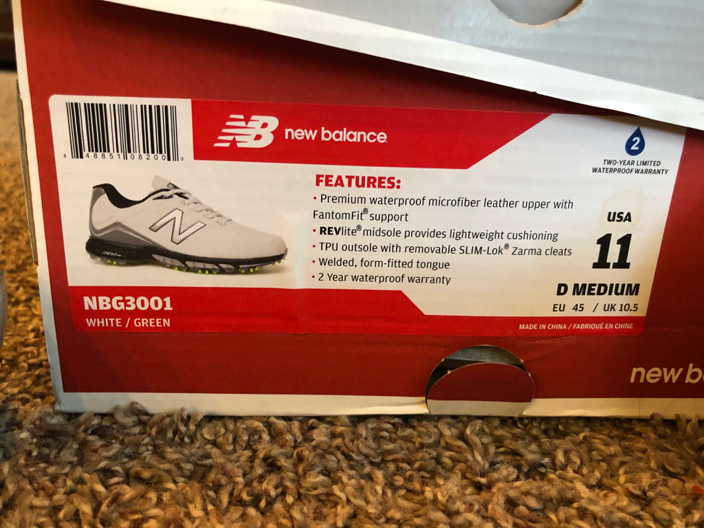 a5c22079c7bf FS Brand New Pair of New Balance NBG 3001 golf shoes